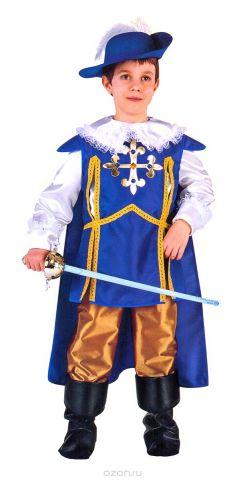 Rio Карнавальный костюм для мальчика Арамис цвет синий белый размер 40 (10-11 лет)