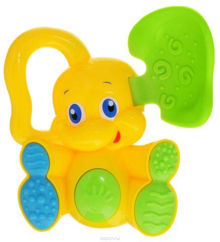 Bondibon Погремушка Слоненок с прорезывателем цвет желтый зеленый