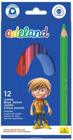 Adel Набор цветных карандашей Adeland Jumbo 12 шт 211-7510-110