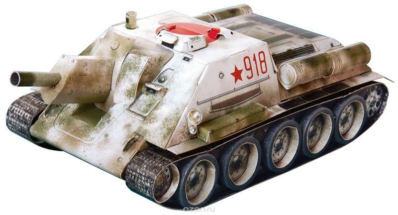 Умная бумага 3D пазл Самоходная артиллерийская установка СУ-122