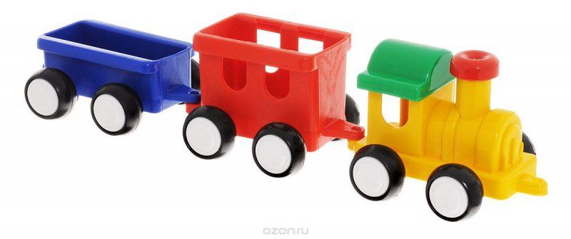 Форма Паровозик Детский сад цвет желтый красный синий