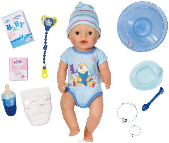 Baby Born Пупс цвет одежды серый голубой