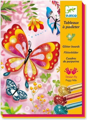 Djeco Раскраска Блестящие бабочки