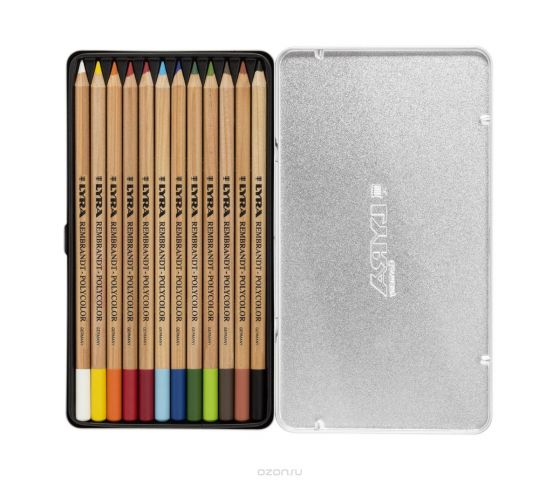 Lyra Набор художественных цветных карандашей Rembrandt Polycolor 12 шт