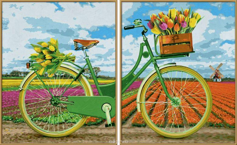 Schipper Картина по номерам Диптих Голландский велосипед