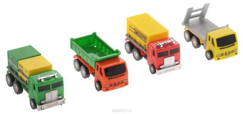 Дрофа-Медиа Набор грузовых машинок 4 шт