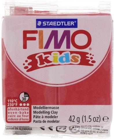 """Полимерная глина Fimo """"Kids"""", цвет: красный, 42 г"""