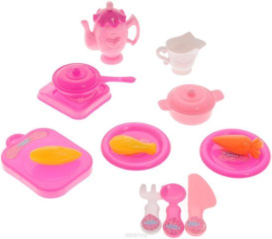 ABtoys Игрушечный набор посуды 15 предметов