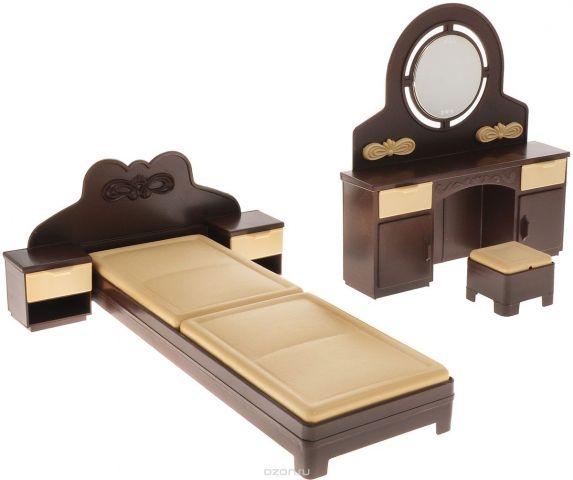 Огонек Набор мебели для кукол Спальня Коллекция