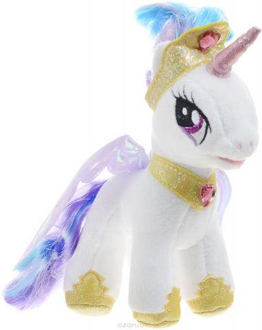 Мульти-Пульти Мягкая озвученная игрушка Пони Принцесса Селестия 18 см