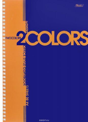 Hatber Тетрадь 2Colors 80 листов в клетку цвет оранжевый синий