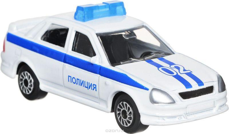 ТехноПарк Модель автомобиля Lada Priora Полиция цвет белый