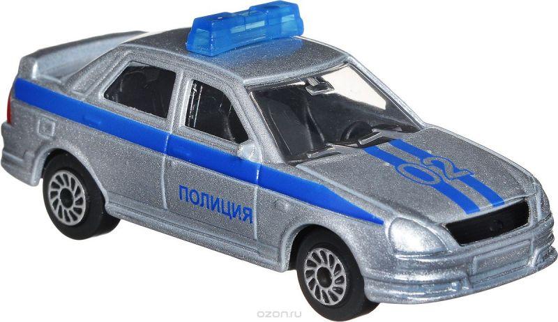 ТехноПарк Модель автомобиля Lada Priora Полиция цвет серебристый