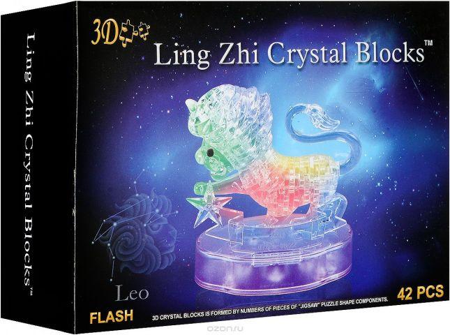3D Ling Zhi Crystal Blocks 3D Пазл Лев с подсветкой