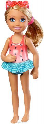 Barbie Мини-кукла Челси с напитком