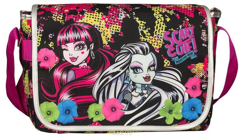 Monster High Сумка школьная цвет черный розовый