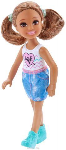 Barbie Мини-кукла Челси с молоком и печеньем
