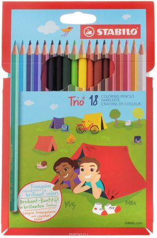 Stabilo Набор цветных карандашей Trio 18 шт