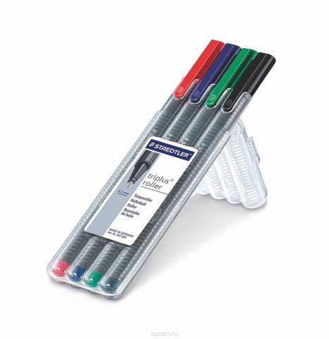 Staedtler Набор ручек-роллеров Triplus 4 цвета