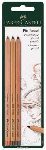 Faber-Castell Набор пастельных карандашей Pitt Pastel 3 шт