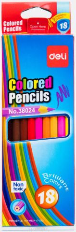 Deli Набор цветных карандашей 18 шт