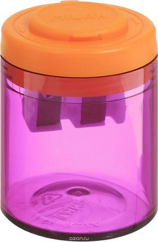 Milan Точилка Collection с контейнером цвет фиолетовый оранжевый
