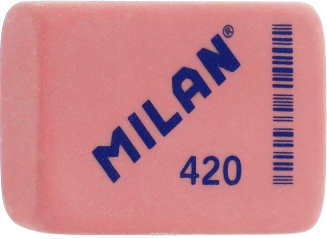 Milan Ластик 420 прямоугольный цвет красный