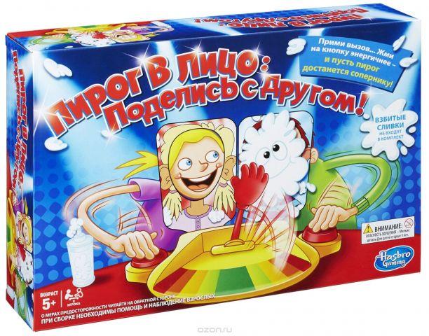 Hasbro Games Настольная игра Пирог в лицо Поделись с другом!