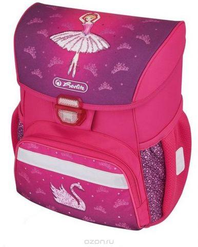 Herlitz Ранец школьный для девочки Loop Plus Ballerina с наполнением цвет розовый