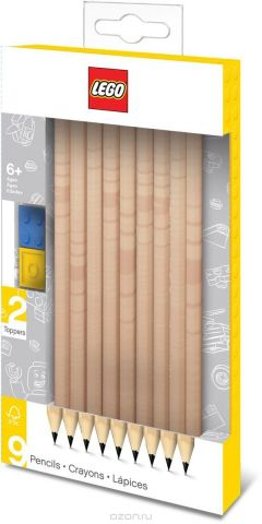 LEGO Набор карандашей с насадками 9 шт 51504