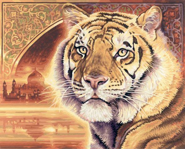 """Набор для рисования по номерам Schipper """"Тигр"""", 40 х 50 см"""