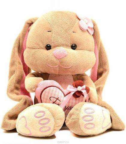 Jack & Lin Мягкая игрушка Зайка Лин с сердцем 35 см