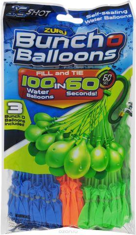 Zuru Водяное оружие Bunch O Balloons цвет синий оранжевый зеленый