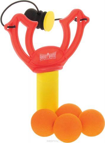 ABtoys Игровой набор Рогатка с 4 шариками