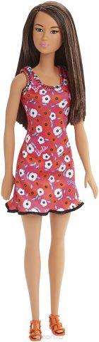 Barbie Кукла цвет платья розовый оранжевый белый