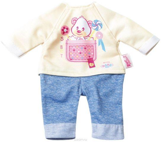 Baby Born Комплект одежды для дома цвет бежевый голубой