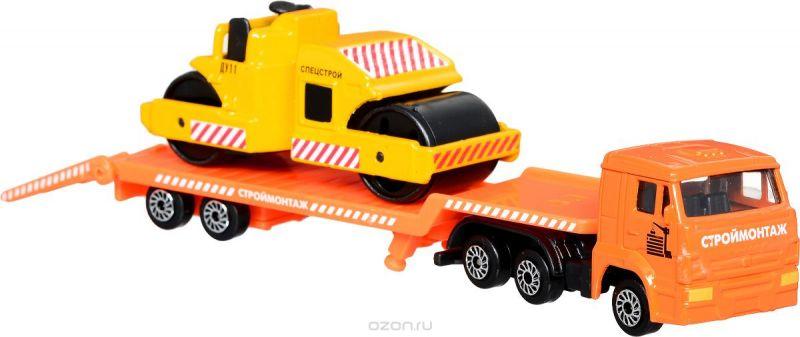 ТехноПарк Автотранспортер КамАЗ с катком Спецстрой