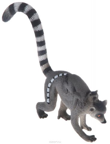 Mojo Фигурка Кошачий лемур с детенышем на спине