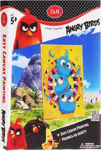 D&M Набор для росписи по холсту Angry Birds Синие птички