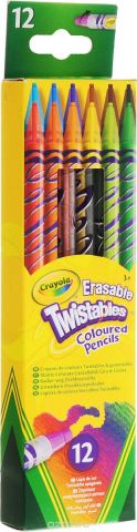 Crayola Набор цветных выкручивающихся карандашей 12 шт