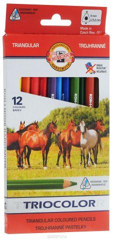 Koh-i-Noor Набор цветных карандашей Triocolor 12 цветов