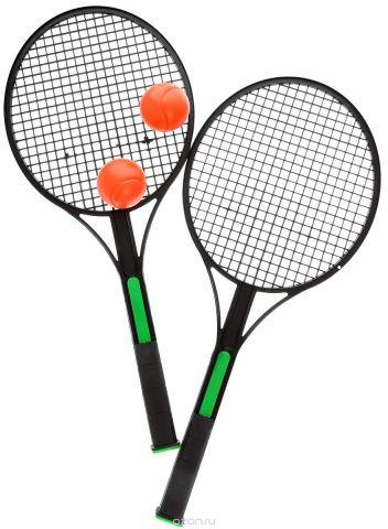 """Набор для игры в теннис """"King Sport"""", цвет: зеленый, черный, оранжевый, 4 предмета"""