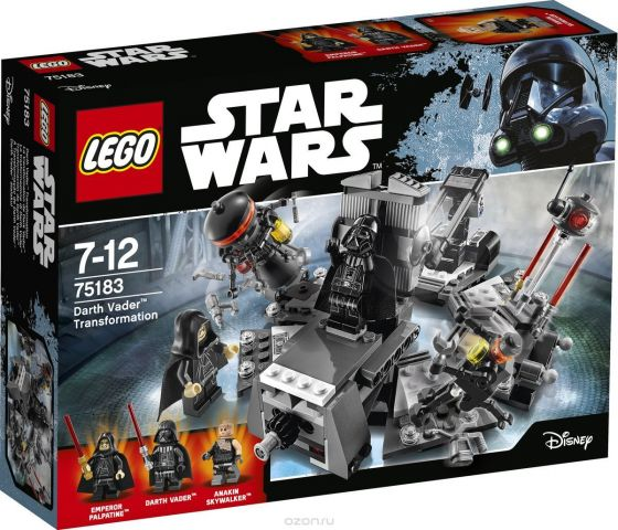 LEGO Star Wars Конструктор Превращение в Дарта Вейдера 75183