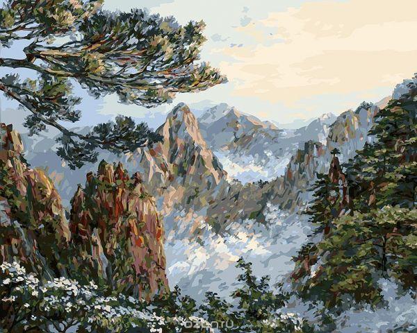 "Живопись на холсте Белоснежка ""Китай. Хуаншань"", 40 х 50 см"