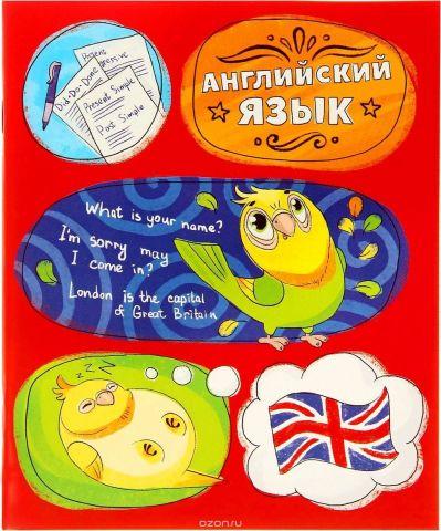 Тетрадь Английский язык 48 листов в клетку