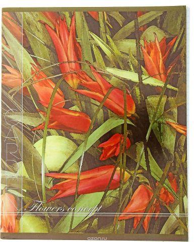 ТетраПром Тетрадь Акварельные цветы 48 листов в клетку