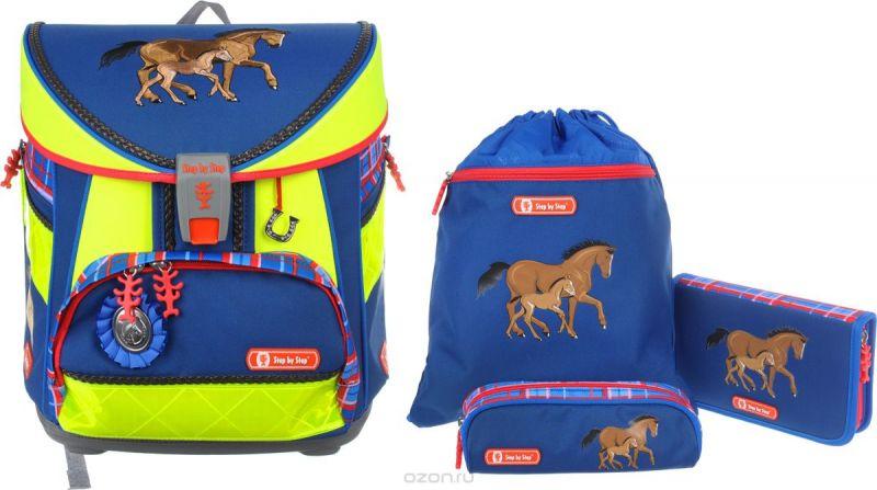 Hama Step by Step Ранец школьный Light Din Horse Family с наполнением 3 предмета
