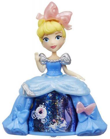 Disney Princess Мини-кукла Золушка в платье с волшебной юбкой