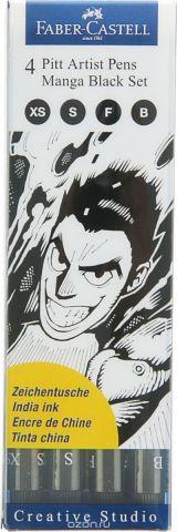 Faber-Castell Набор капиллярных ручек Pitt Artist Pen Manga 4 шт