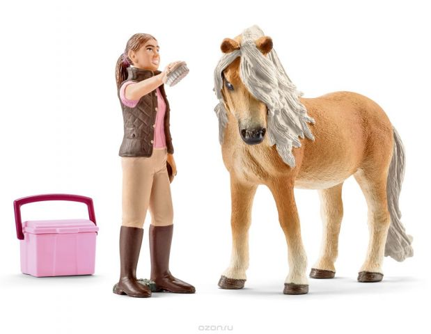 Schleich Набор фигурок Конюх и исландский пони